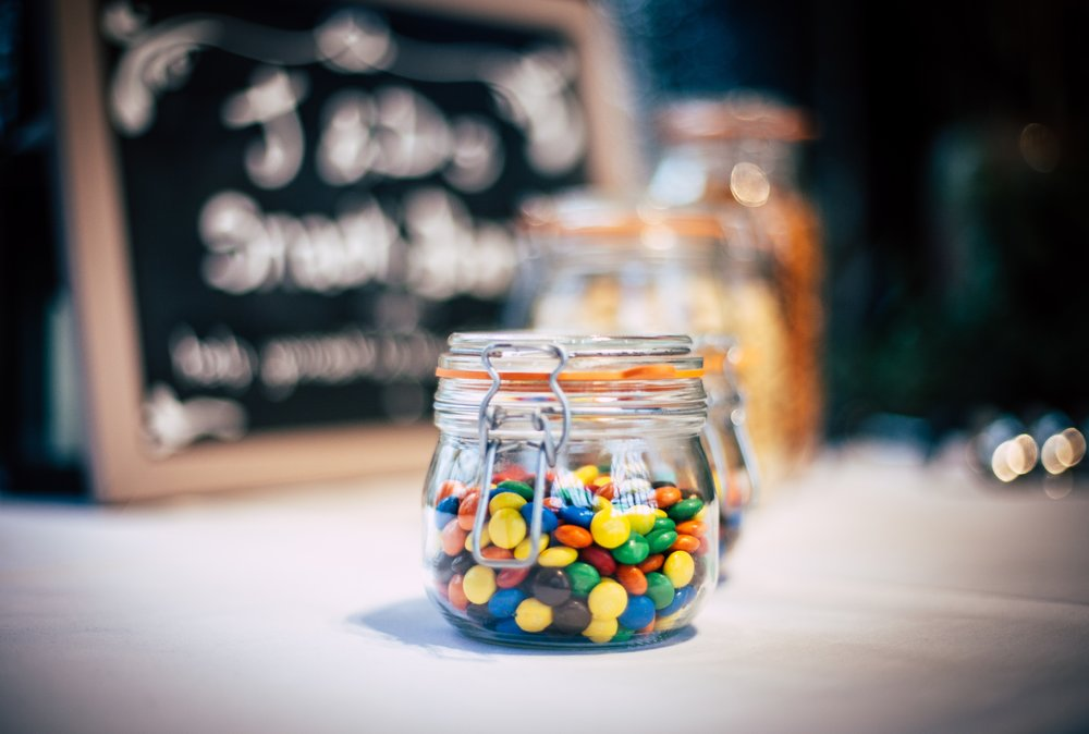 Food - Always a win! For my husband's birthday the children filled a jar of sweets and then we labelled it 'To Daddy, there's no-one sweeter than you' such a simple gift to include and cute. It's easily personalised, just fill it with their favourite sweet treats so they have a supply to have on their desk at work or stored at home.