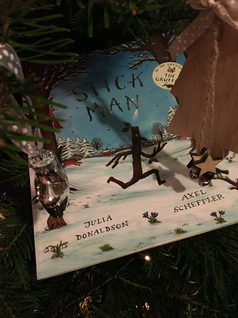 Stick Man - By Julia Donaldson. No one writes children's books like Julia. Now a short film, this tale is all about a Daddy Stick Man trying to get home to his family at Christmas. Perfect rhyming prose for little ones this Christmas.