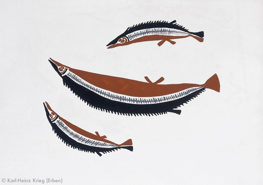 Boi Koivogi Kalei, 1996 Acryl/Papier, grundiert 59,1 x 41, 8 cm Werknr. 23-1996/133