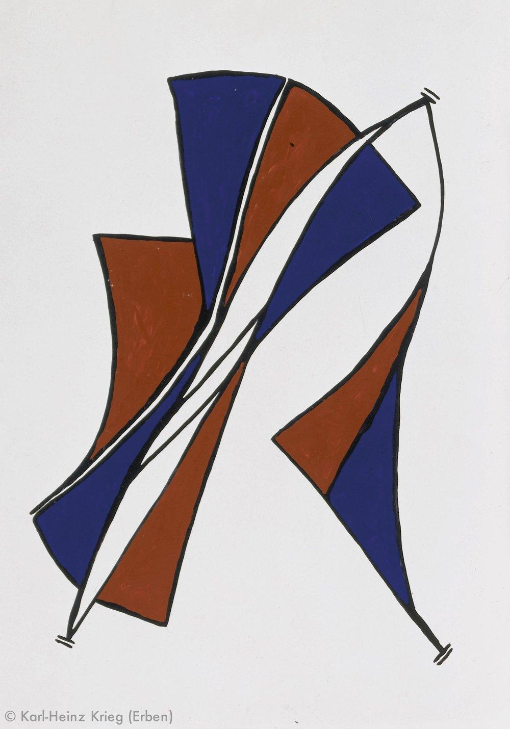 Akoi Onivogi Gilatamadegi, Stil: Bhékpégi, 1996 Acryl/Papier, grundiert 59,4 x 42 cm Werknr. 28-1996/15