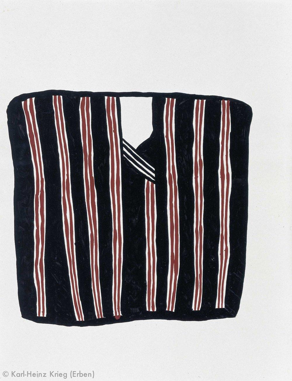 Pévé Zoumanigi Dobogolai, 1990 Dispersionsfarbe/Papier, grundiert 64,5 x 50 cm Werknr. 39-1990/44