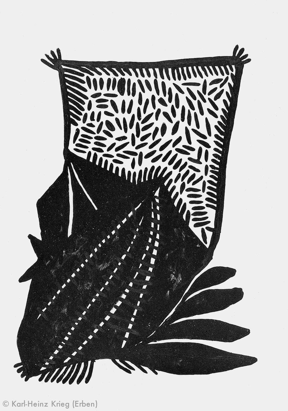 Akoi Zoumanigi Wöéngi, 1996 Acryl/Papier, grundiert 29,5 x 21 cm Werknr. 38-1996/13