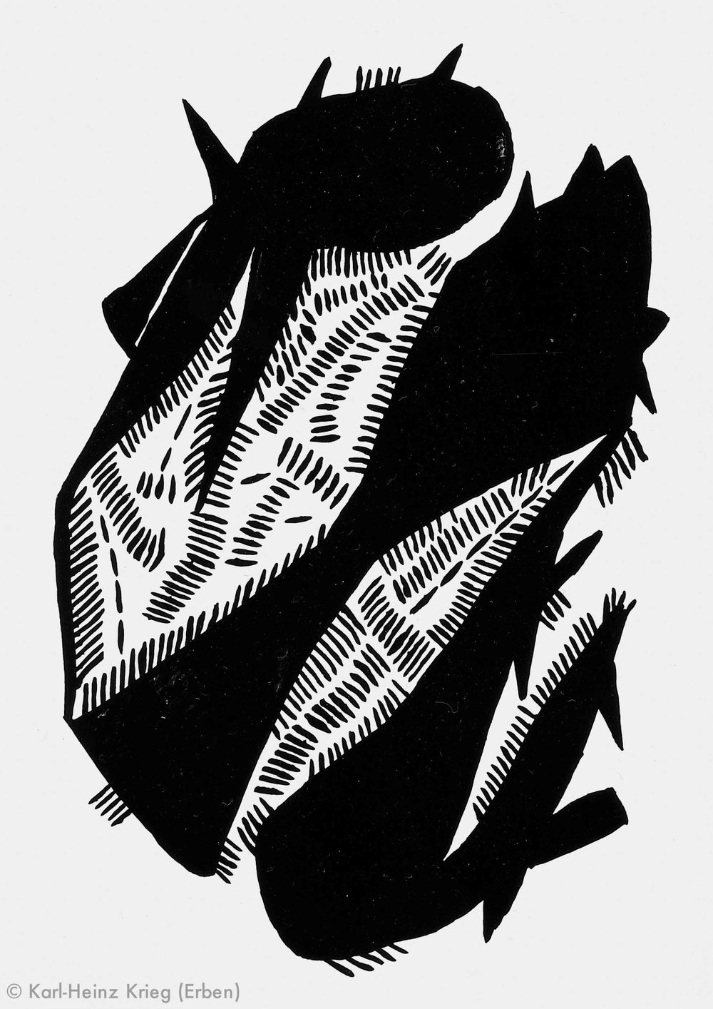 Akoi Zoumanigi Wöéngi, 1996 Acryl/Papier, grundiert 40,8 x 29 cm Werknr. 38-1996/75