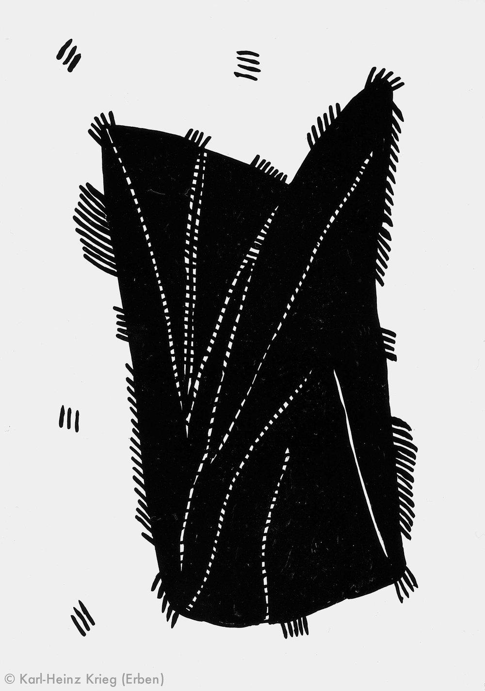 Akoi Zoumanigi Schote, 1996 Acryl/Papier, grundiert 42 x 29,7 cm Werknr. 38-1997/97