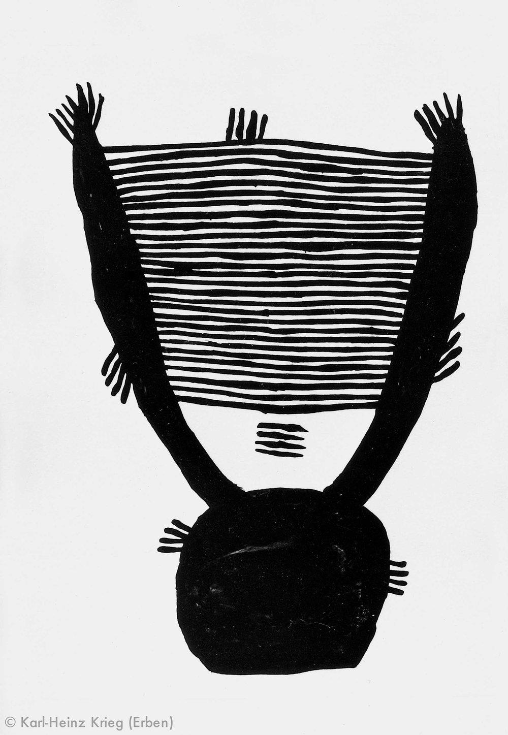 Akoi Zoumanigi Königi, 1996 Acryl/Papier, grundiert 28,1 x 20,7 cm Werknr. 38-1996/18