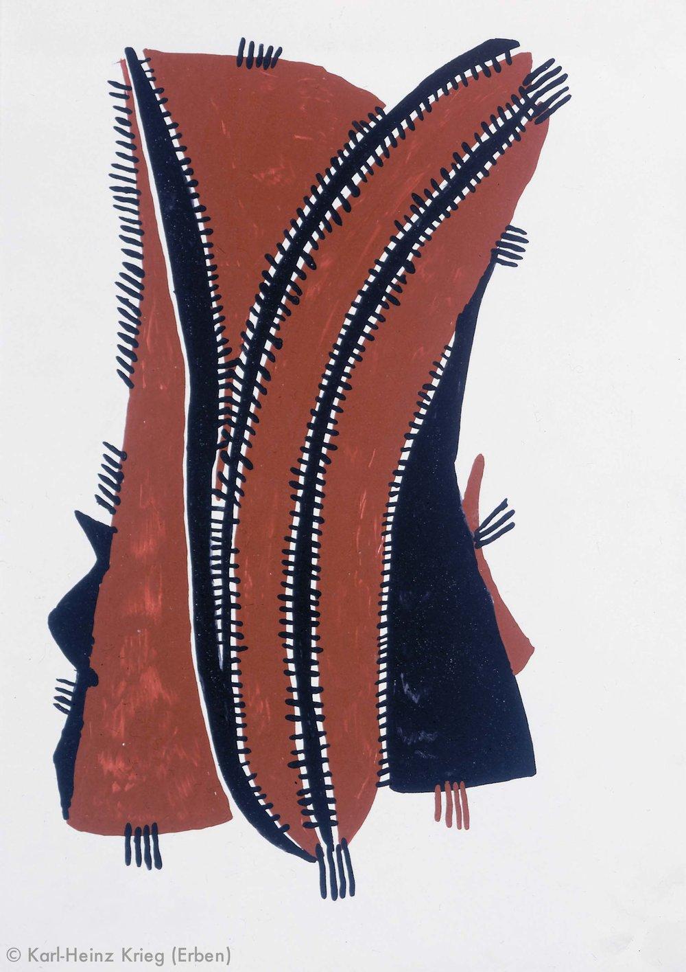 Akoi Zoumanigi Schote, 1996 Acryl/Papier, grundiert 40,6 x 29 cm Werknr. 38-1996/59