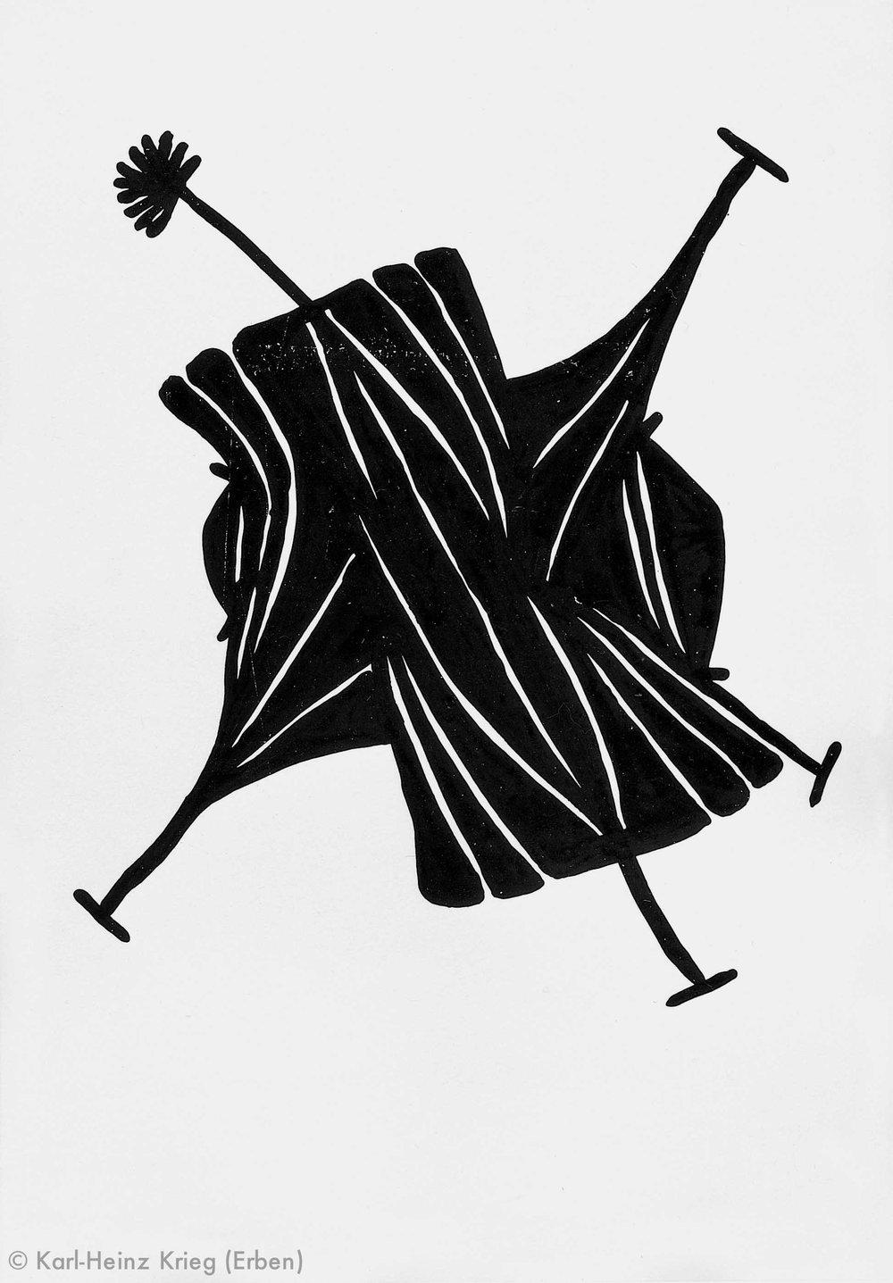 Gaou Béavogi Zawagi, 1991 Dispersionsfarbe/Papier 47,5 x 33,5 cm Werknr. 6-1991/4