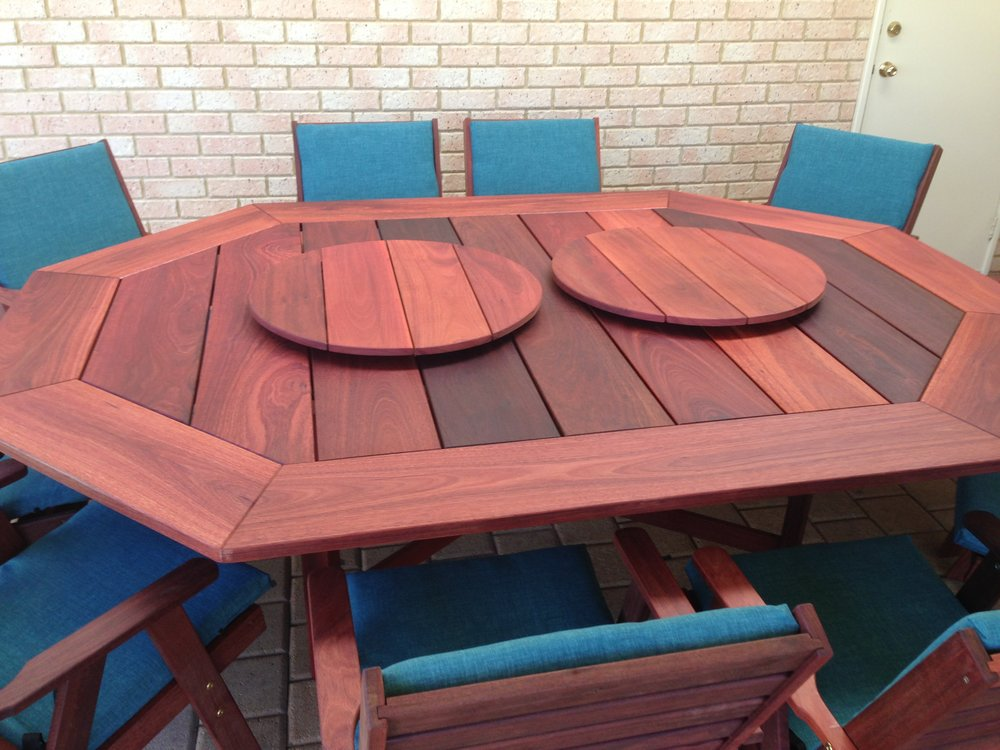 10 seat Jarrah Wideboard table with Limerick cushions.jpg
