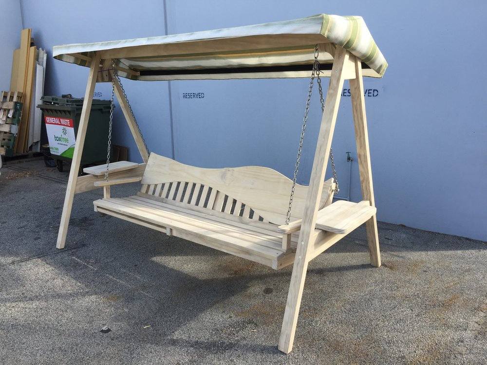 4 seat swing on stand