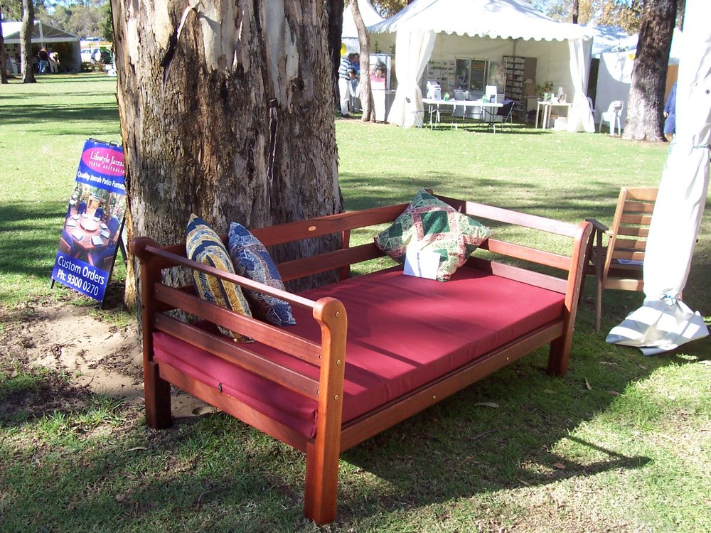 Jarrah daybed with mattress