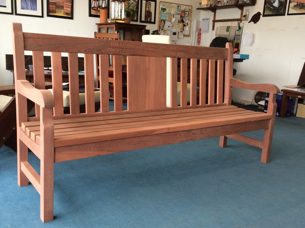 Jarrah Nottinghill replica bench 2.JPG
