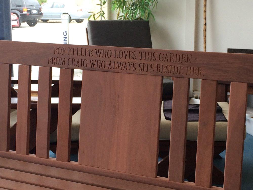 Jarrah Nottinghill replica bench engraving.JPG