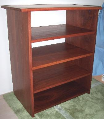 Jarrah bookcase 900x600x400 mm