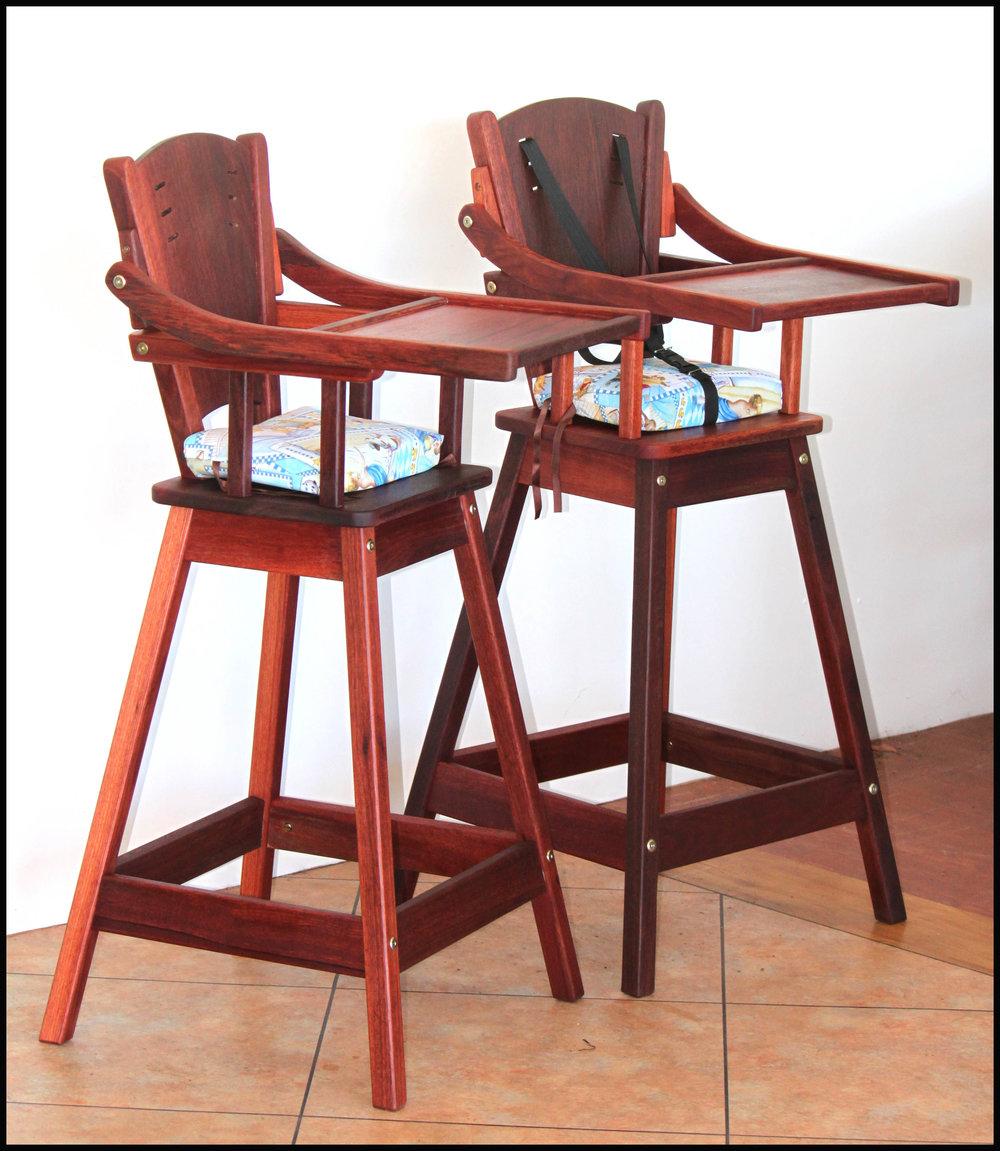 Jarrah high chairs
