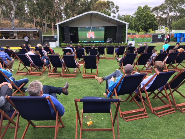 Jarrah deck chairs -Adelaide Oval