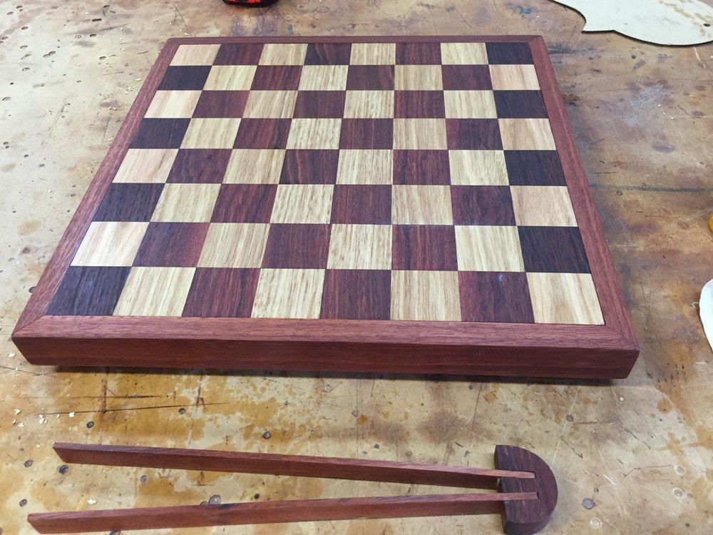 Jarrah and Tassie Chess board