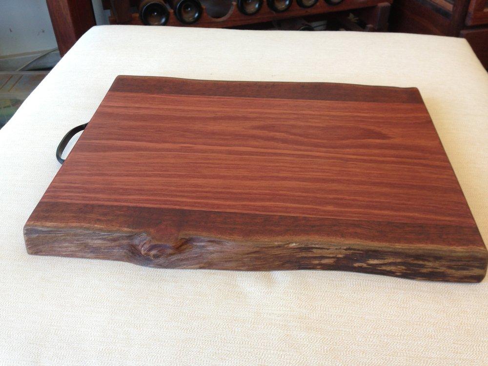 Natural edge Jarrah chopping board