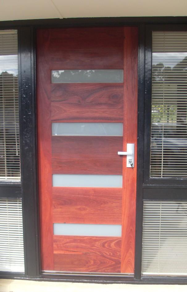 Extra tall Jarrah door