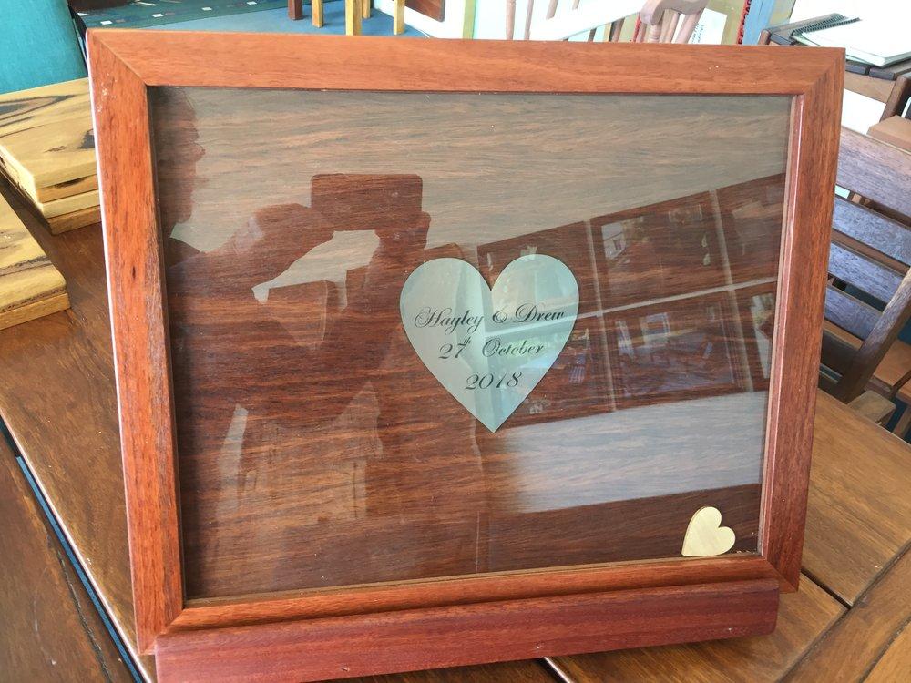 Jarrah wedding wishes frame