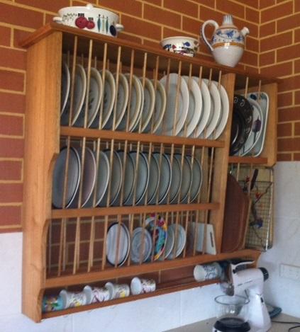 Tasmanian Oak plate rack