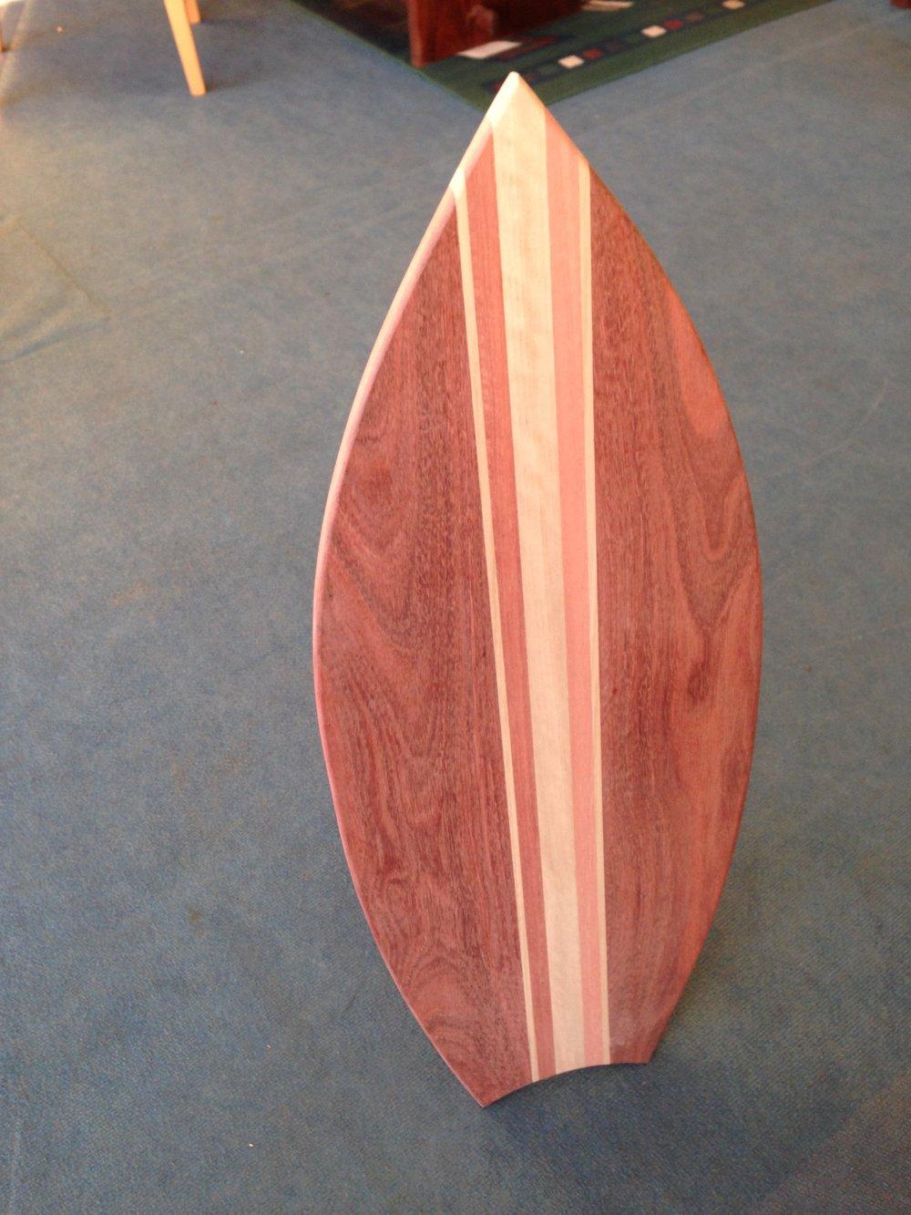 Surf board shape antipasto board Mixed timber