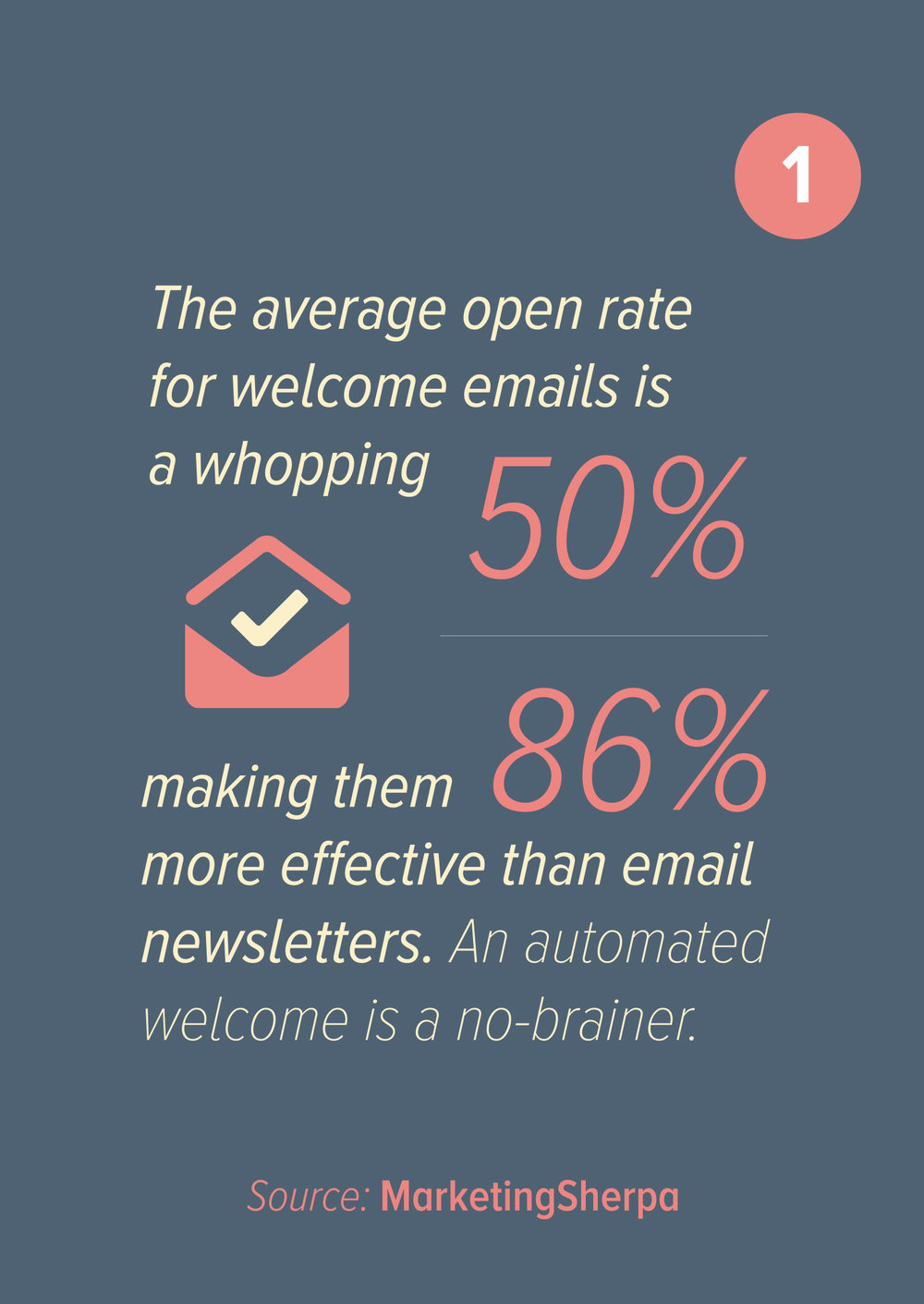 Source:   https://www.slideshare.net/kingdevil/email-marketing-statistics-quotes-and-tips-shared-by-brands-via-pallabslides