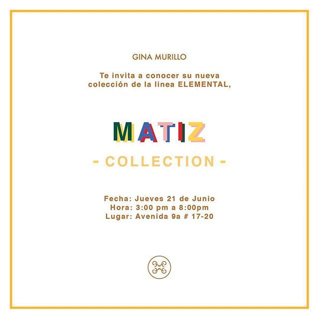 Te esperamos mañana en nuestra tienda en Cali... nuestra colección Matiz 2018 será exhibida mañana en un ambiente de amigas y moda... #ginamurillo #beelemental #newcollection #lanzamiento #cali #store #happiness #colombiandesigner
