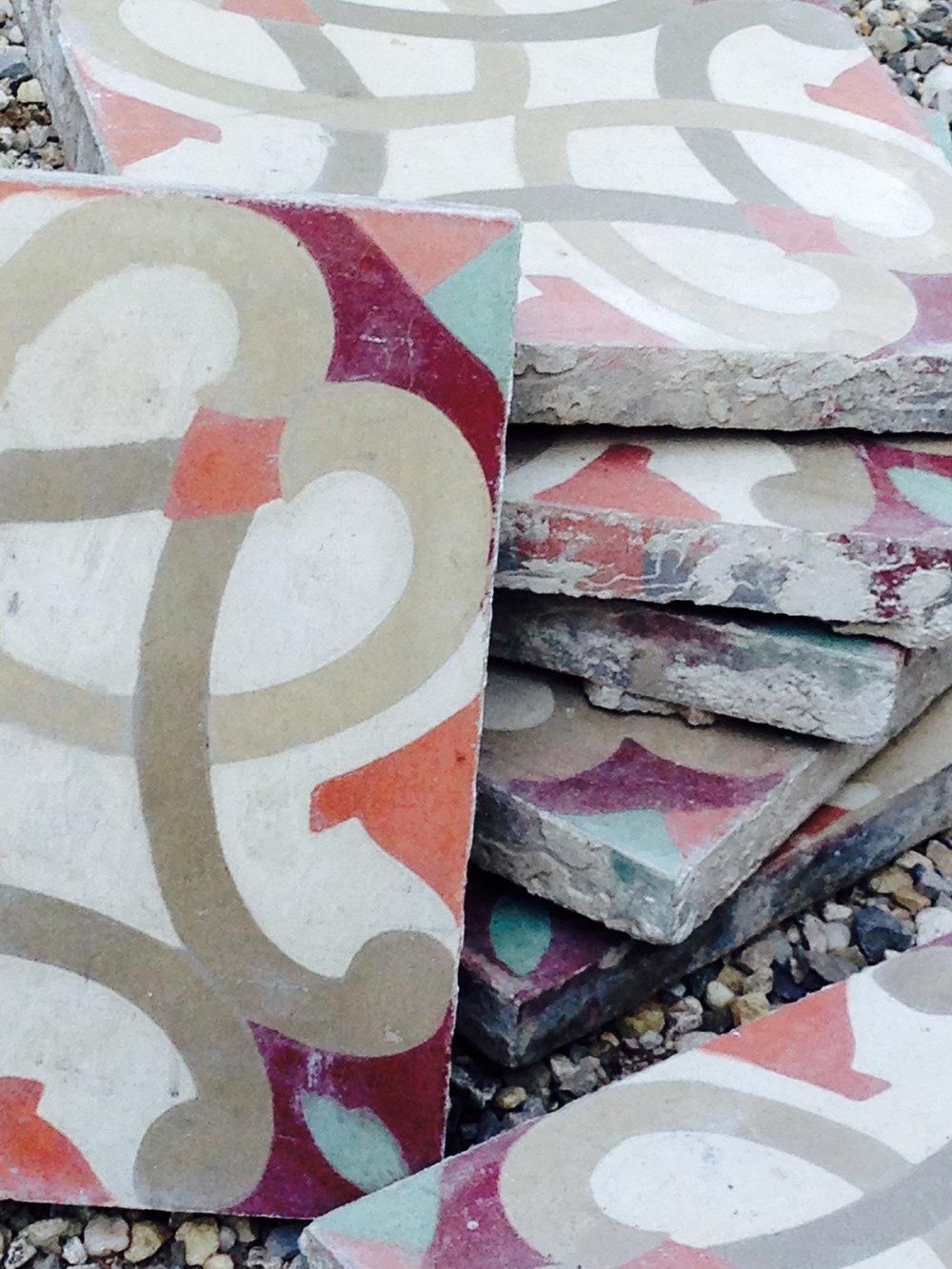 Reclaimed French Encaustic Tiles | BRIQUE