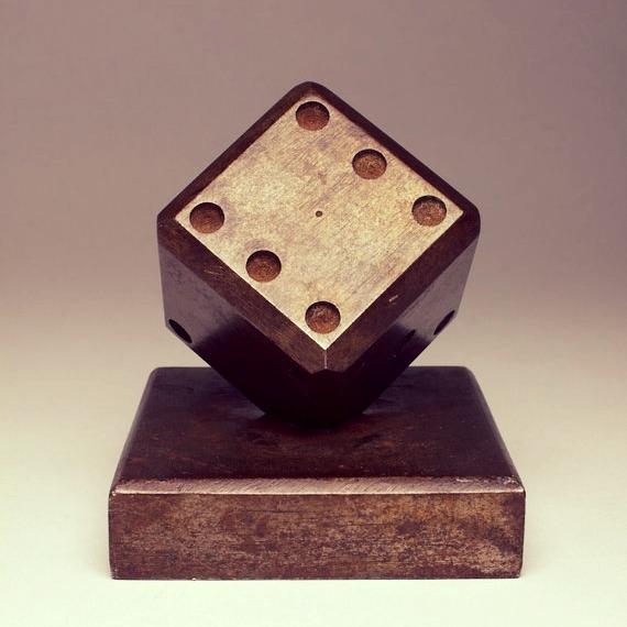 Rare Art Deco Edgar Brandt Dice paperweight c.1930