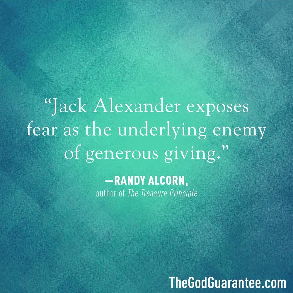 Randy Alcorn endorses The God Guarantee