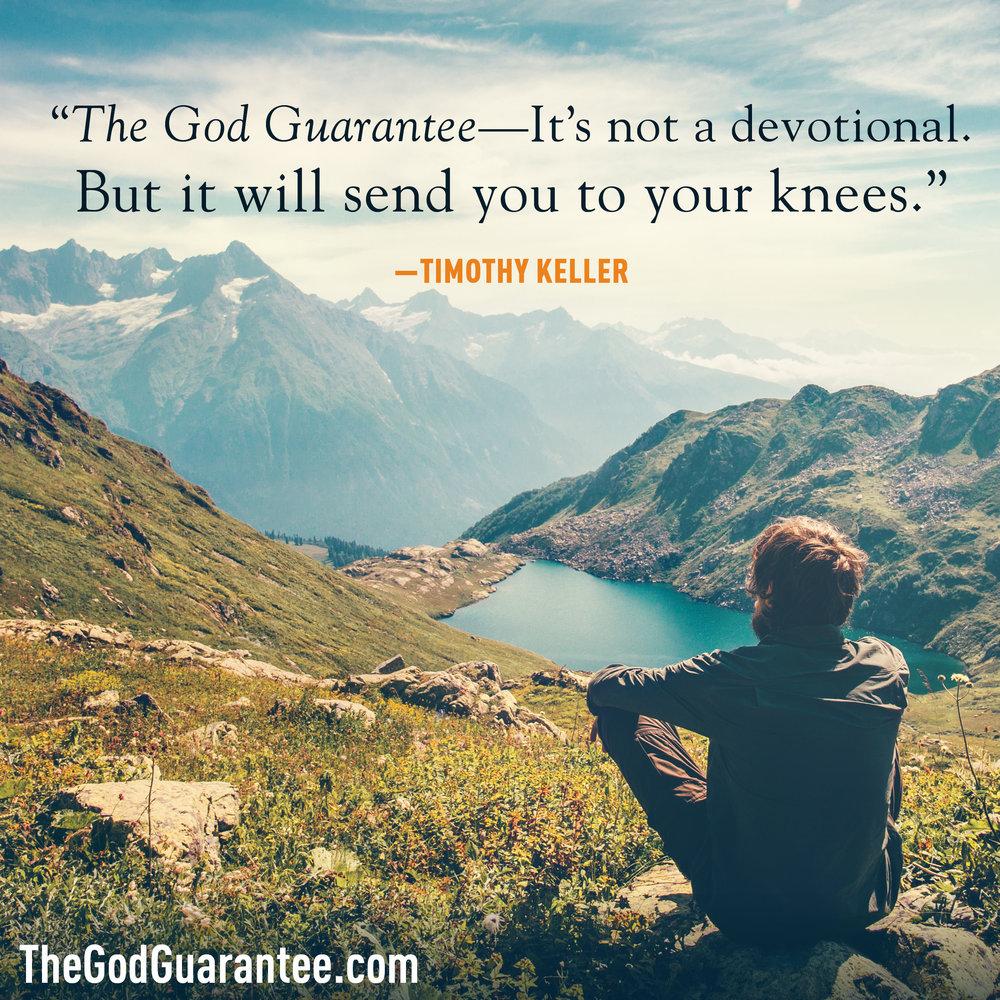Tim Keller endorses The God Guarantee