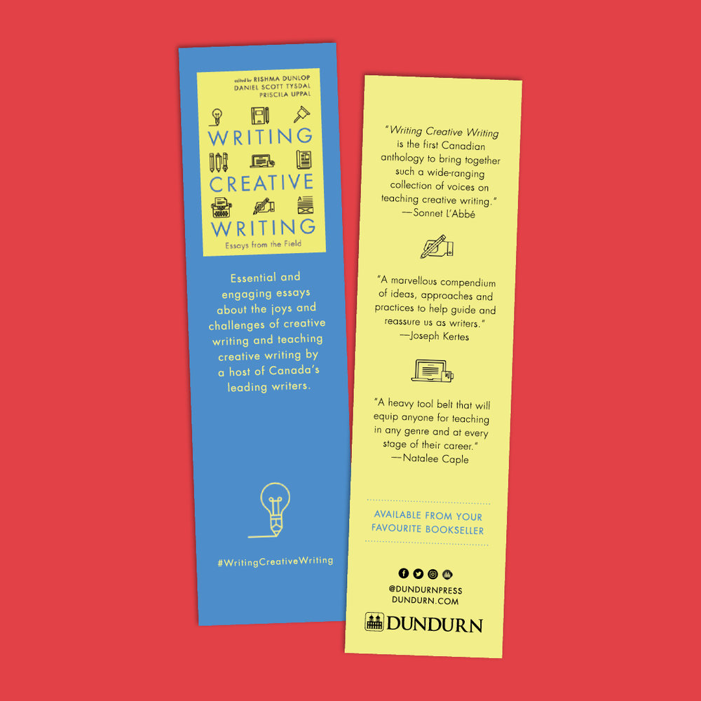 Bookmark designed by Sarah Beaudin for  Writing Creative Writing .