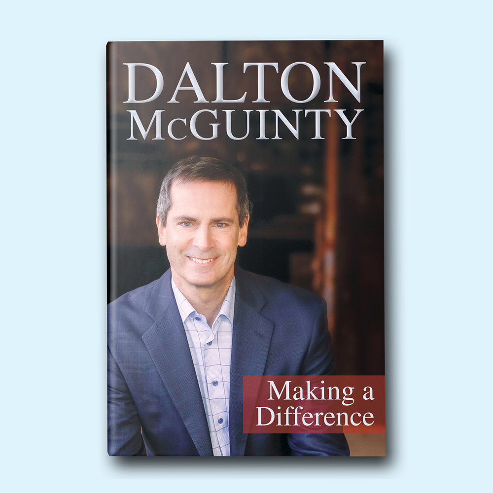 Dalton McGuinty: Making a Difference  by Dalton McGuinty Cover design by Sarah Beaudin. Publisher: Dundurn Press | Genre: Non-fiction, autobiography, politics  Cover features a smiling portrait of the author in a blue suit.