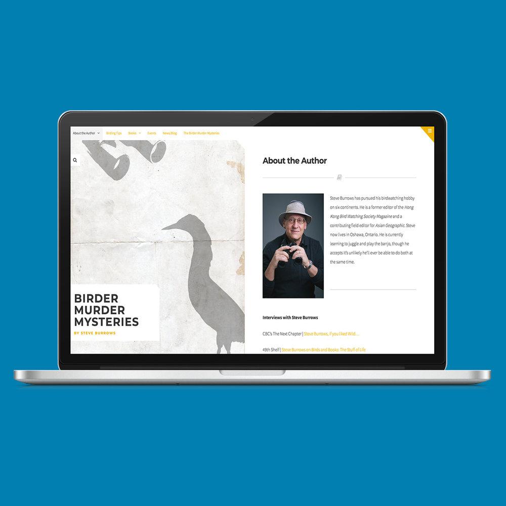 Author website for Steve Burrows, author of A Birder Murder Mystery series. http://www.abirdermurder.com/