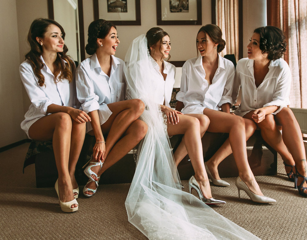 Hen Party Of The Bride And Her Girlfriends
