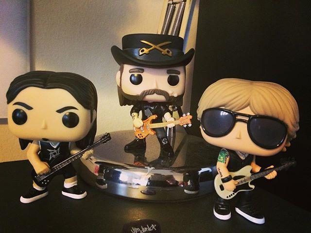 And then there were 3, gotta find that elusive DeeDee Ramone next.  #roberttrujillo #lemmy #duffmckagen  @robtrujillo @lemmy_kilmister_ @officialduffmckagan @popvinyl  #metallica #metallicabass #motorhead #gunsnroses  #bass #bassist #bassguitar