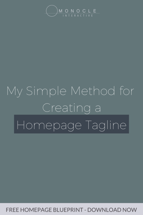 My simple method for creating a homepage tagline monocle interactive blog post pinterest promo 6g malvernweather Image collections