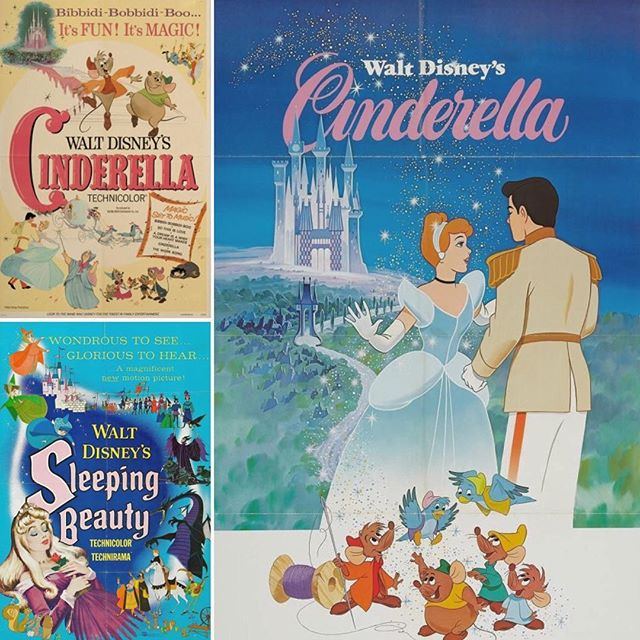 🖌Classic fairytale illustrated posters that inspired Beast's poster! What's your favorite movie poster? #beast #movieposter #illustration #shortfilm #disney #fairytale #cinderella #sleepingbeauty #animation