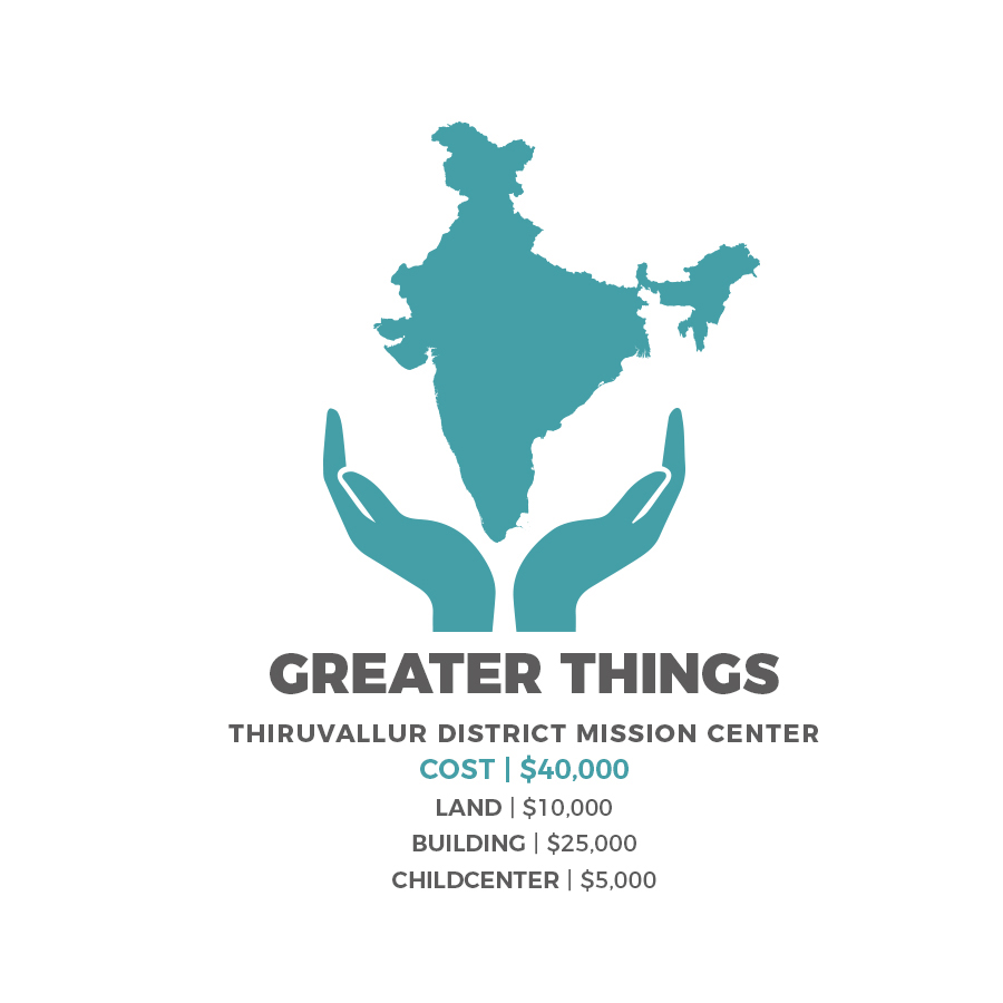 - $10 from each shirt that you purchase will go to Greater Things which helps Mission Voice Network to build a District Mission Center in Thiruvallur.-Church for 150 worshipers.-Childcare Center where 50-60 kids will be fed & taught God's Word 5 days/wk.-Three room living quarters for the Pastor and his family.-Safe haven for persecuted Christians.-Regional pastoral training center.-Water well providing clean drinking water.-Neutral meeting place for all castes.