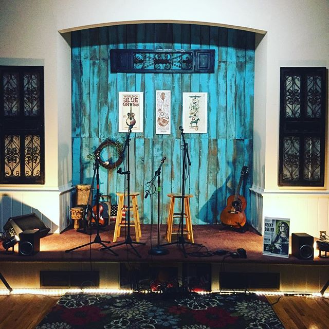 Our stage is set for TONIGHT! Saturday, May 19th, 7:30pm. Our 4th Annual Roots Music Series begins tonight with Becky Buller & Nate Lee. Tickets are still available at the door or online in advance. $20 at the door, $22 in advance. 213 West High Street, WOODBURY, TN. www.rtbirdsongstudio.com. @beckybullerband @nateleellc #woodbury #tn #rootsmusic #bluegrass #mychurch