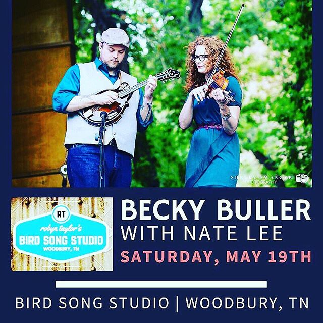 TONIGHT AT 7:30PM! Tickets are still available at the door. Doors open at 7pm. @beckybullerband #rootsseries #woodbury #tn #bluegrass #fiddle