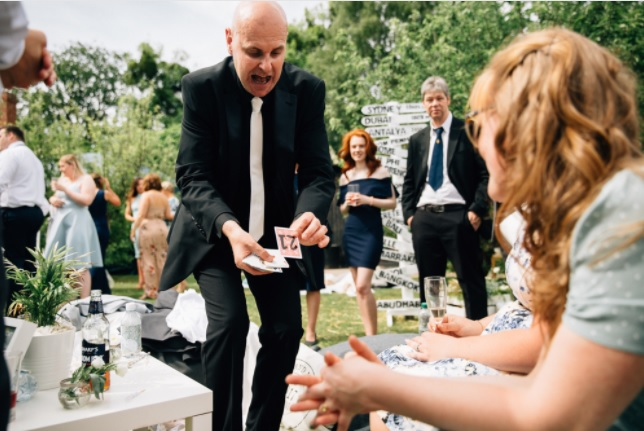 Wedding magician David Fox