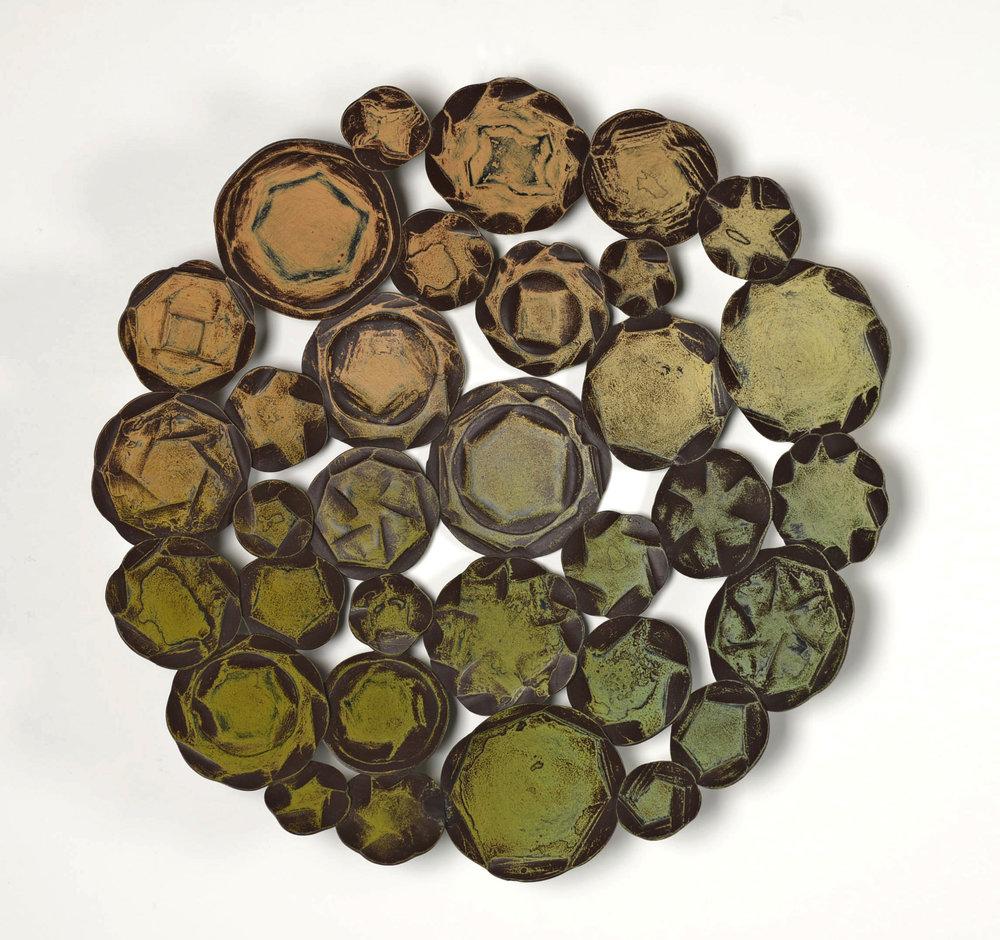 "Saltern Mandala III , 15"" diameter"
