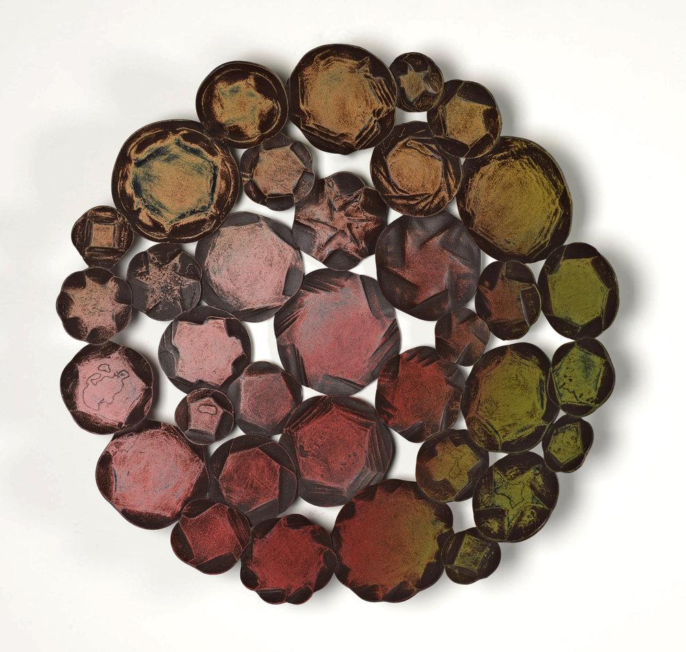 "Saltern Mandala II , 15"" diameter"
