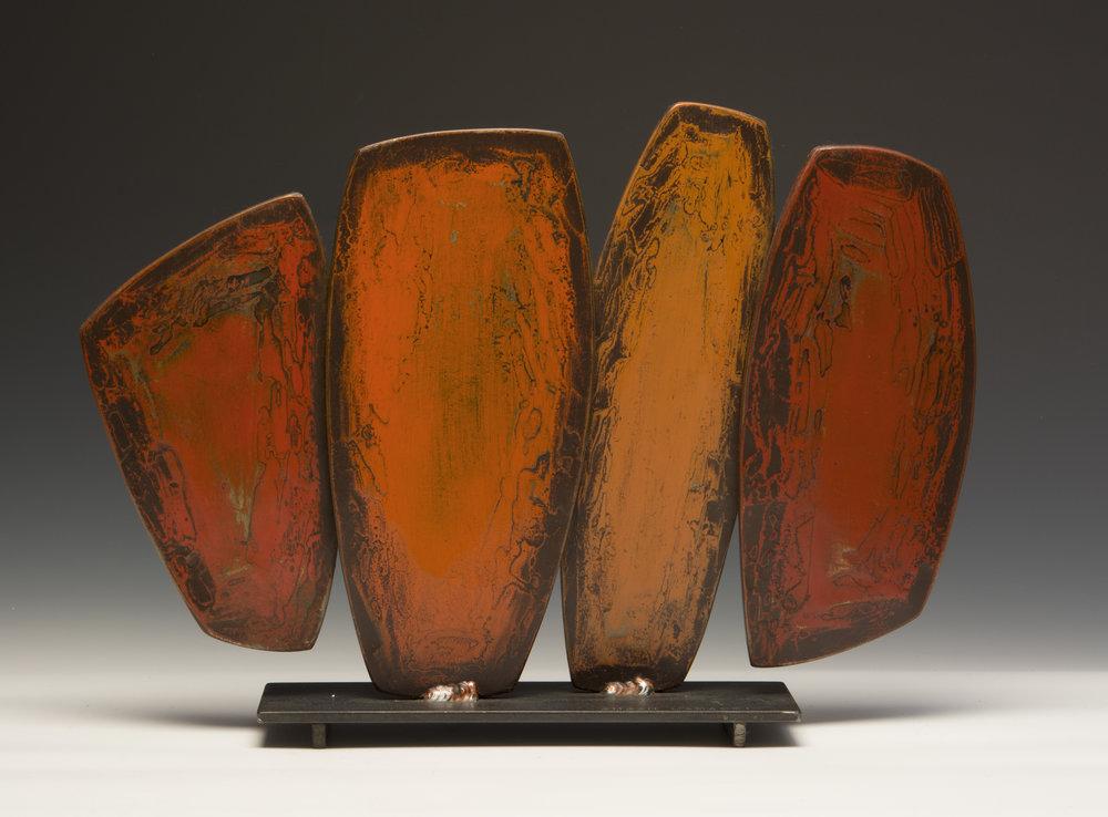 "Orange Cypress , 12"" h x 18"" w x 5"" d"