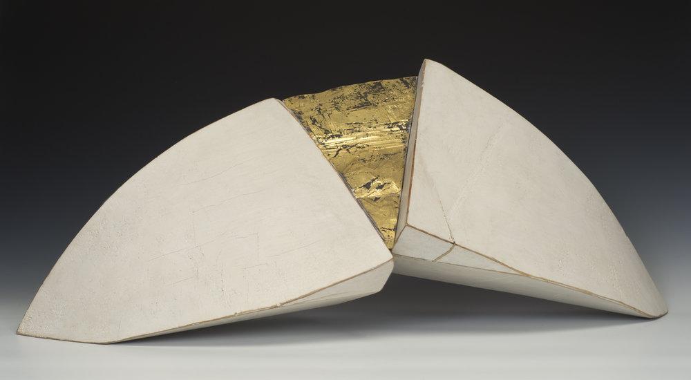 """Gold Rush, 11"""" h x 32"""" w x 10"""" d"""