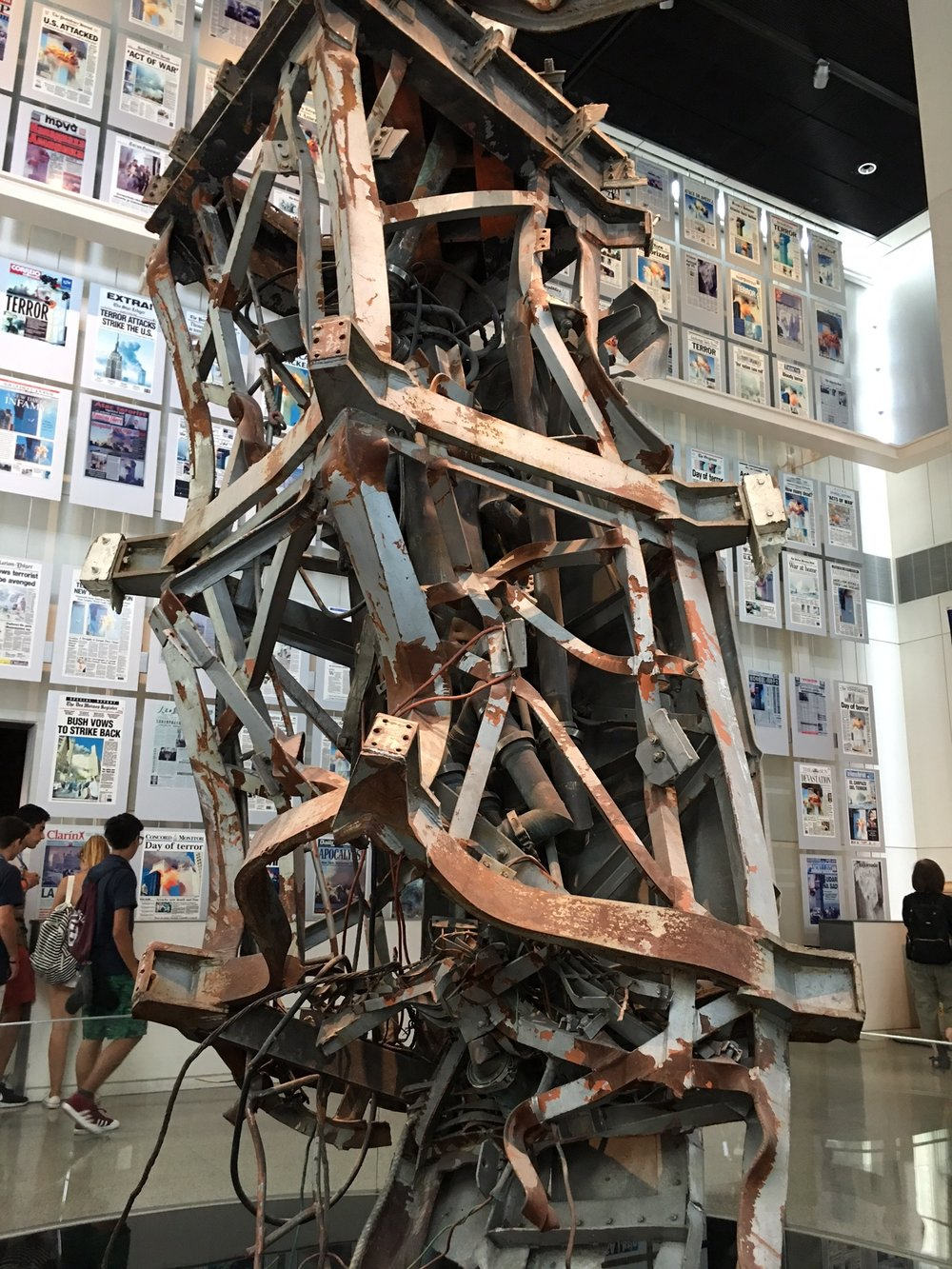 Remnants of Twin Towers at Newseum