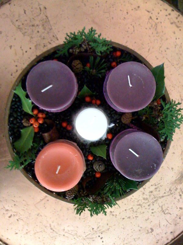 Joanna ES Campbell Advent wreath from the top