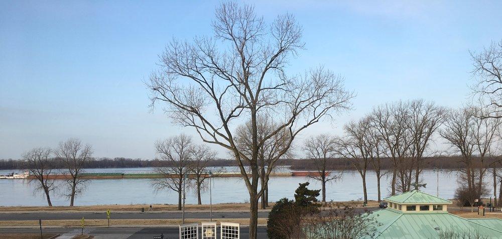 Barge on the Mississippi