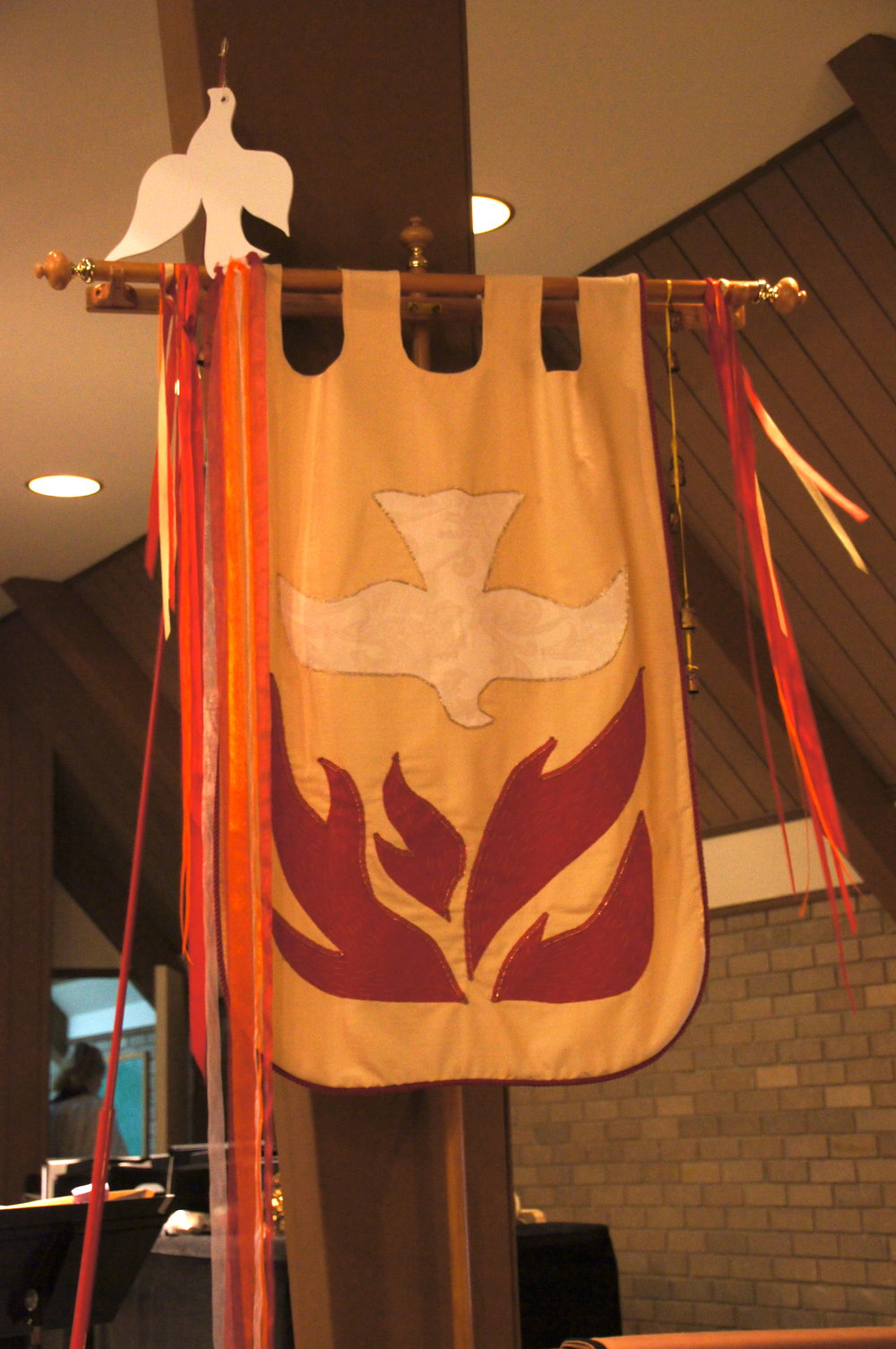 Pentecost banner and dove St. Luke's Episcopal Church North Little Rock